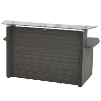 Modern Reception Desk With Frosted Glass Counter Top