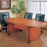 6ft - 12ft Best Value Conference Table, Cherry or Mahogany