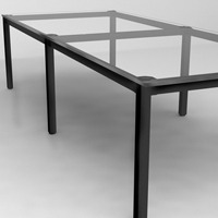 6' - 20' Glass Conference Room Table with 5 Glass & 6 Metal Finishes