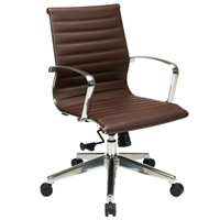 Modern Ribbed Brown Conference Chair, Meeting Room Chair