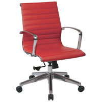 Modern Ribbed Red Conference Chair, Meeting Room Chair