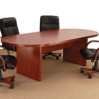 6 ft - 12 ft Conference Room Table, Cherry or Mahogany Wood