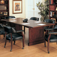 6ft - 12ft Traditional Conference Table, 8ft Lawyer's Conference Table