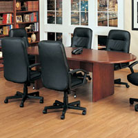 6ft - 12ft Contemporary Conference Table and Chairs Set