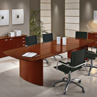 8' - 10' Modern Conference Table, Modern Boardroom Table