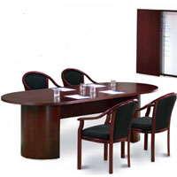 6ft - 12ft Conference Room Table and Chairs Set , Meeting Table Set