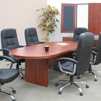 Bargain 6ft - 10ft Conference Room Table - Cherry or Mahogany