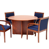 Value Round Conference Room Table & Chairs Set