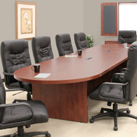 Bargain 12ft - 30ft Large Conference Table with Power Data Modules