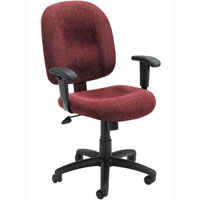 Office Task Chair in Red, Blue, Black, Grey or Beige Fabric