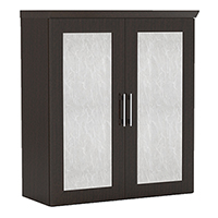 Modern Office Upper Storage Cabinet with Acrylic Glass Doors