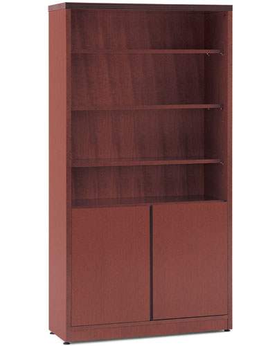 Office bookcase wooden with doors officepope