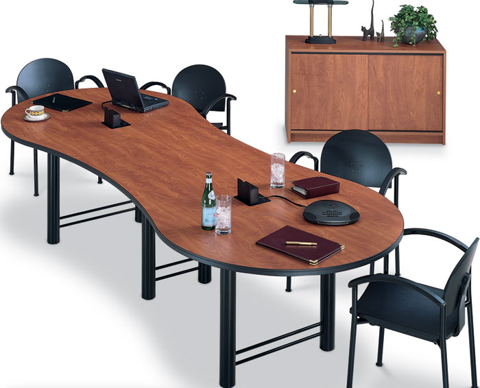 6ft - 12ft Modern Laminate Conference Room Table with ...