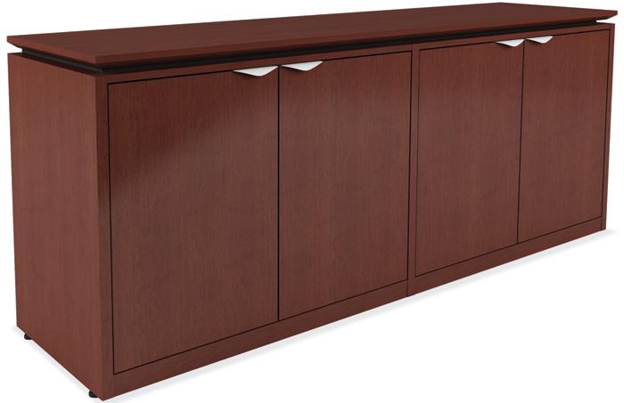 Modern 4 Door Office Credenza Cabinet