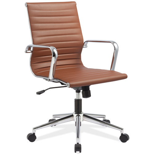 Modern conference chair mid back chrome base office chair for Conference room chairs modern