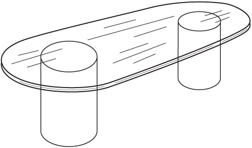 Line Art Table : Ft glass conference table meeting for office