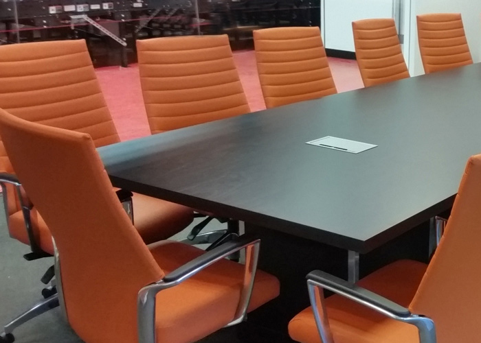 Espresso Conference Room Table With Modern Square Bases OfficePopecom - 16 foot conference room table