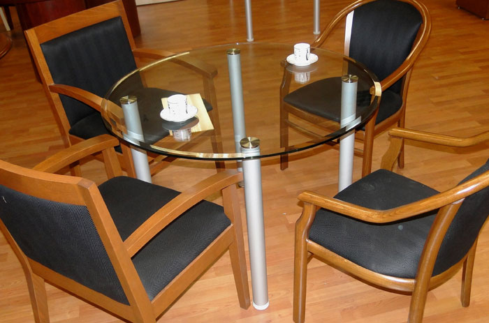 Round Glass Conference Table Glass Office Table OfficePopecom - Small glass conference table