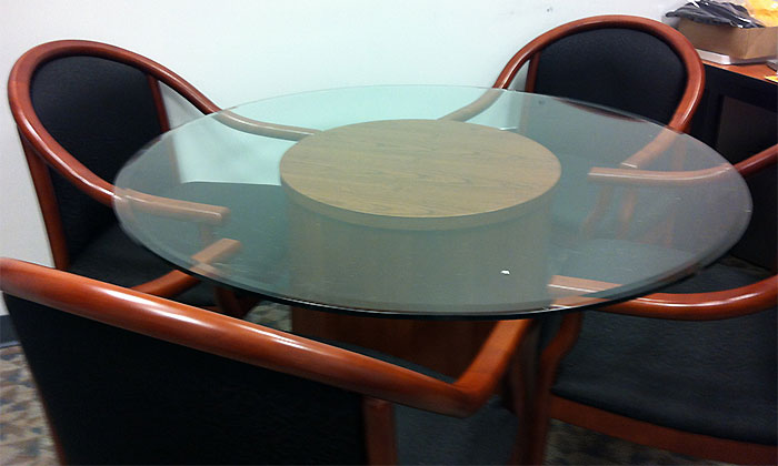 5ft 8ft Glass Conference Table Glass Meeting Table For Office