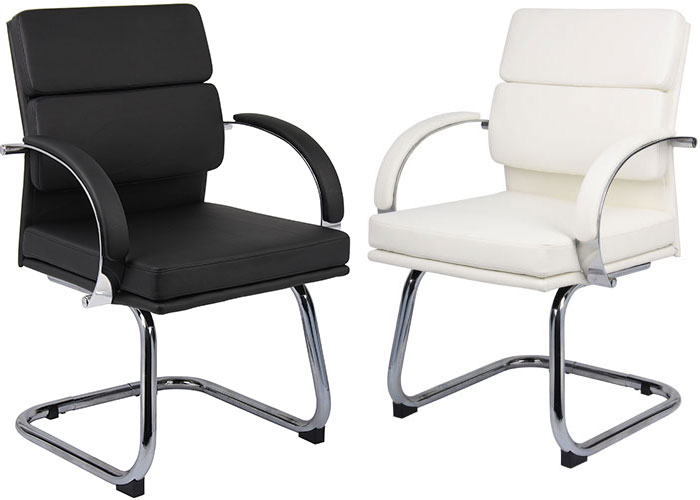 new concept 7a457 9c2e4 Modern Guest Chairs, Designer Black or White Office Chairs ...