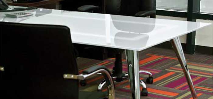 Glass Conference Table Modern Office Room Table - Frosted glass conference room table
