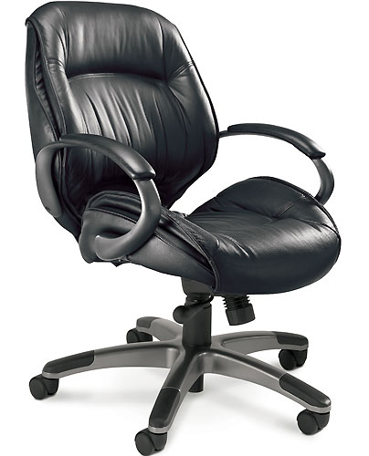 leather conference room chairs, mid back - officepope