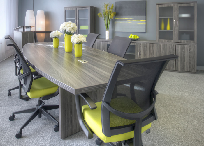 6 Foot 18 Foot Modern Conference Table Boat Shaped