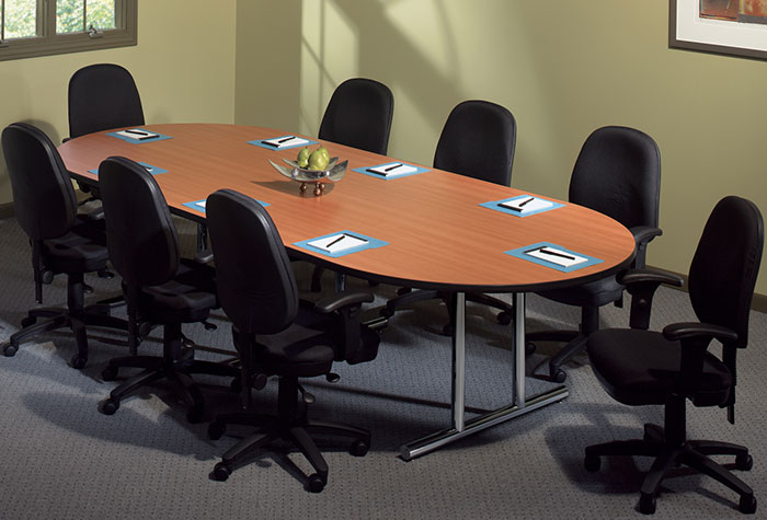 6 ft 10 ft conference room table with chairs set for 10ft by 10ft room