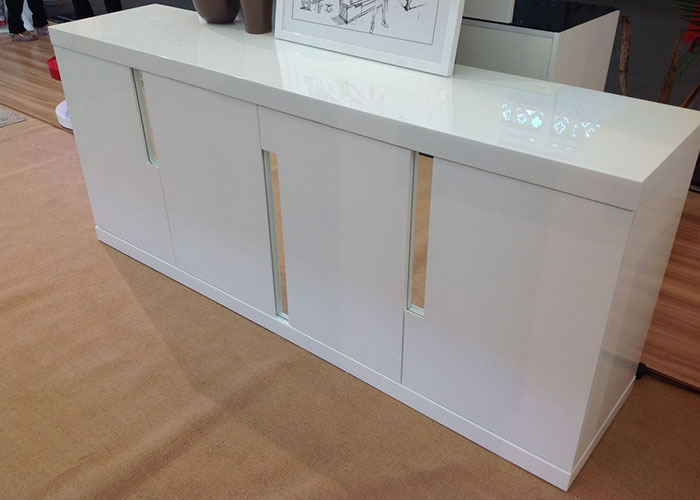 MODERN CREDENZA CABINET High Gloss Lacquered White Designer Office Buffet Table eBay