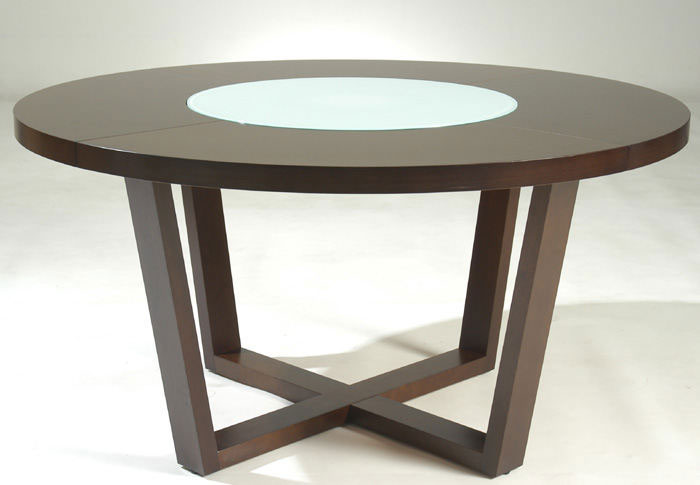 """Round Wood Dining Table 60 Inch: Large Round Dining Table, 60"""" Modern Solid Wood"""