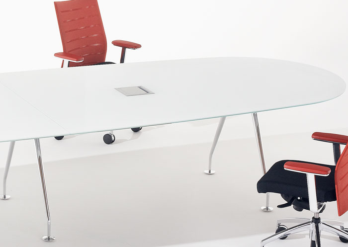 6ft 14ft Glass Conference Table Glass Boardroom Table