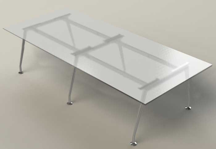 6FT   11FT Modern Glass Conference Table With 5 Glass U0026 7 Metal Finishes    OfficePope.com