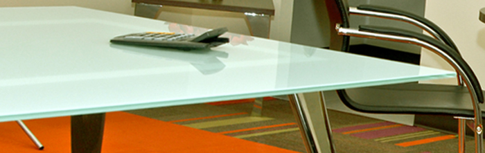 Pictured Above Is Our Black Glass Conference Table Top Pictured Below Is  Our Frosted Glass Conference Table Top