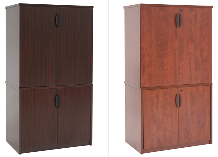 Quot h office storage cabinet modular stackable wooden wood