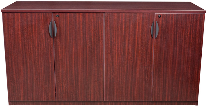 Cherry Wood Mahogany Storage Cabinets ~ Contemporary office credenza cabinet storage furniture