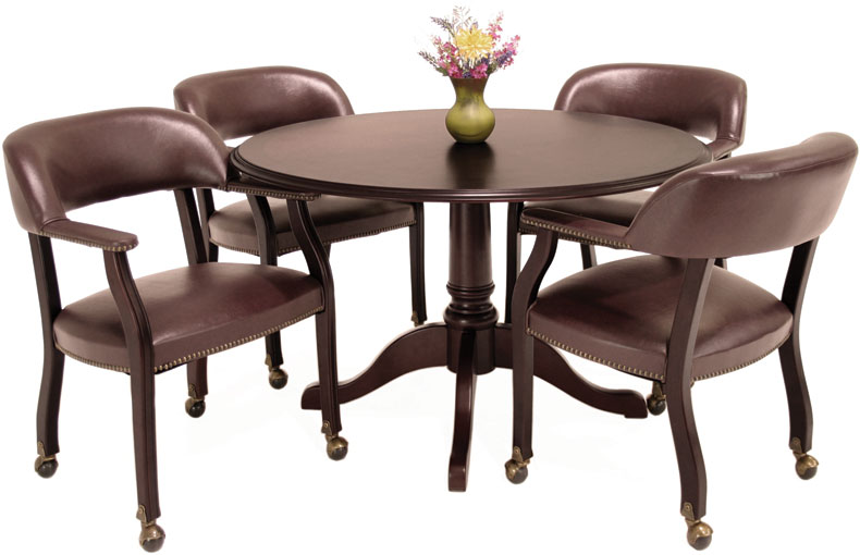Round Table With Chairs Part - 30: The Perfect Conference Table U0026 Chairs Set. Traditional Round Conference Table  With ...