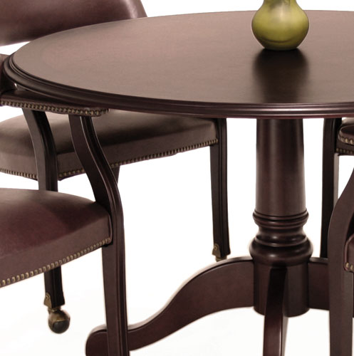 ROUND CONFERENCE TABLE AND CHAIRS Traditional Office Set With 42 Or