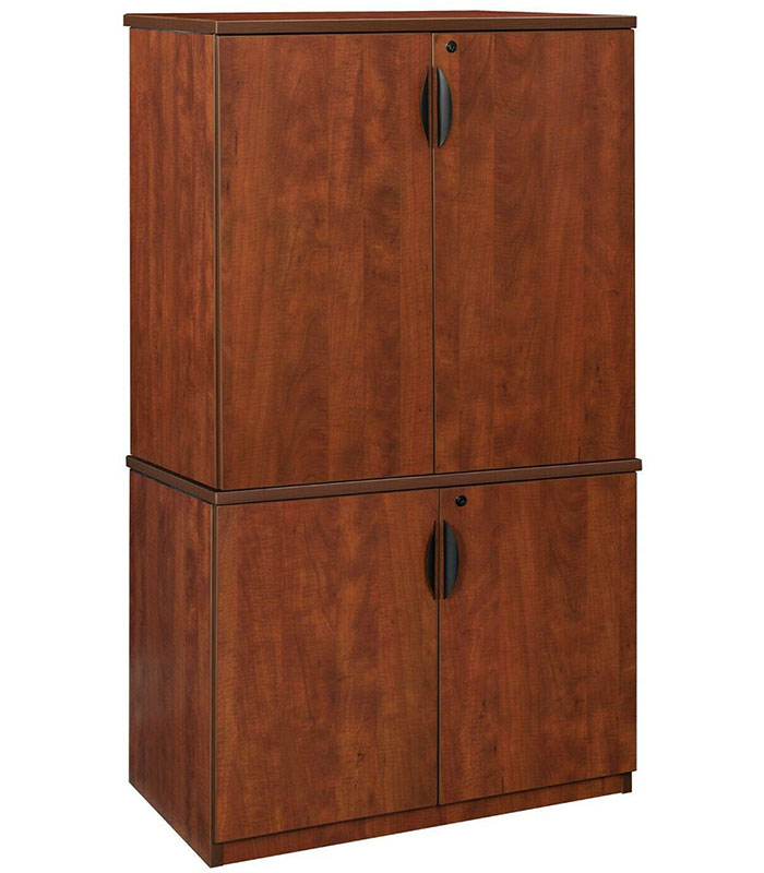 Small Office Cabinet Modular Credenza 29 H 35 H Cherry Mahogany Ash Grey New Ebay